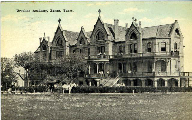 Photo of the Ursuline Academy, built in 1901, in Bryan Texas